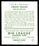 1934 Goudey Reprint #20  Frank Hogan  Back Thumbnail
