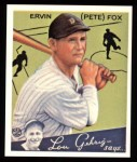 1934 Goudey Reprint #70  Pete Fox  Front Thumbnail