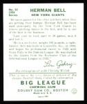 1934 Goudey Reprint #52  Herman Bell  Back Thumbnail
