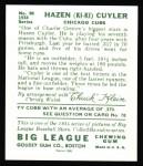 1934 Goudey Reprint #90  KiKi Cuyler  Back Thumbnail