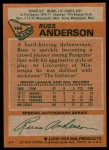 1978 Topps #156  Russ Anderson  Back Thumbnail