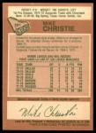 1978 O-Pee-Chee #291  Mike Christie  Back Thumbnail