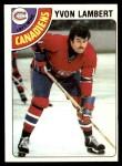 1978 Topps #147  Yvon Lambert  Front Thumbnail