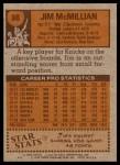 1978 Topps #88  Jim McMillian  Back Thumbnail
