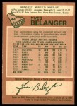 1978 O-Pee-Chee #44  Yves Belanger  Back Thumbnail