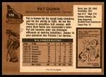 1975 Topps #172  Pat Quinn   Back Thumbnail