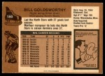 1975 O-Pee-Chee NHL #180  Bill Goldsworthy  Back Thumbnail