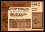 1975 O-Pee-Chee NHL #47  Bob Stewart  Back Thumbnail