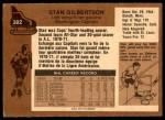 1975 O-Pee-Chee NHL #382  Stan Gilbertson  Back Thumbnail