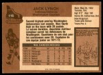1975 O-Pee-Chee NHL #116  Jack Lynch  Back Thumbnail