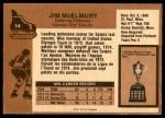 1975 O-Pee-Chee NHL #14  Jim McElmury  Back Thumbnail