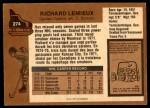 1975 O-Pee-Chee NHL #274  Real Lemieux  Back Thumbnail