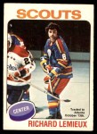 1975 O-Pee-Chee NHL #274  Real Lemieux  Front Thumbnail