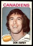 1975 O-Pee-Chee NHL #344  Don Awrey  Front Thumbnail