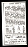 1911 T205 Reprint #60  Clyde Engle  Back Thumbnail