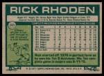 1977 Topps #245  Rick Rhoden  Back Thumbnail