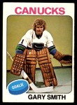 1975 O-Pee-Chee NHL #115  Gary Smith  Front Thumbnail