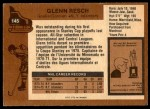 1975 O-Pee-Chee NHL #145  Glenn Resch  Back Thumbnail