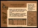 1975 O-Pee-Chee NHL #117  Jacques Richard  Back Thumbnail