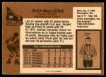 1975 O-Pee-Chee NHL #20  Rick MacLeish  Back Thumbnail