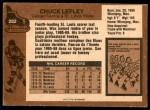 1975 O-Pee-Chee NHL #282  Chuck Lefley  Back Thumbnail