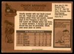 1975 O-Pee-Chee NHL #57  Chuck Arnason  Back Thumbnail