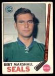 1969 O-Pee-Chee #80  Bert Marshall  Front Thumbnail