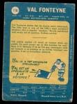 1969 O-Pee-Chee #119  Val Fonteyne  Back Thumbnail