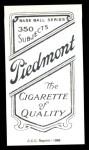 1909 T206 Reprint #131 SIT Mike Donlin  Back Thumbnail