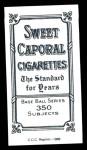 1909 T206 Reprint #129  Bill Dineen  Back Thumbnail
