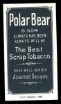 1909 T206 Reprint #106 xCAP Doc Crandall  Back Thumbnail
