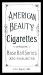 1909 T206 Reprint #89  Bill Clancy  Back Thumbnail