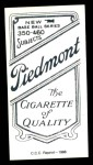 1909 T206 Reprint #69 FOL Howie Camnitz  Back Thumbnail