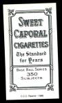 1909 T206 Reprint #63  Jimmy Burke  Back Thumbnail