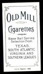 1909 T206 Reprint #52 BAT Roger Bresnahan  Back Thumbnail
