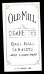 1909 T206 Reprint #54 CAP Al Bridwell  Back Thumbnail