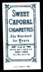 1909 T206 Reprint #44  Frank Bowerman  Back Thumbnail