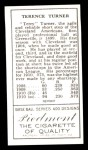 1911 T205 Reprint #193  Terry Turner  Back Thumbnail