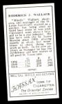 1911 T205 Reprint #196 CAP Bobby Wallace  Back Thumbnail