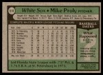 1979 Topps #514  Mike Proly  Back Thumbnail