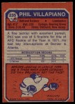 1973 Topps #235  Phil Villapiano  Back Thumbnail