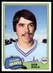 1981 Topps Traded #853 T Bob Walk  Front Thumbnail