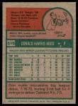 1975 Topps #516  Don Hood  Back Thumbnail