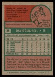 1975 Topps #38  Buddy Bell  Back Thumbnail