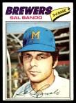 1977 Topps #498  Sal Bando  Front Thumbnail
