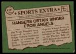 1976 Topps Traded #411 T Bill Singer  Back Thumbnail