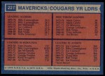1974 Topps #221   -  Joe Caldwell / Tom Owens / Mack Calvin / Billy Cunningham Spirits Leaders Back Thumbnail