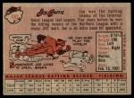 1958 Topps #182  Joe Caffie  Back Thumbnail