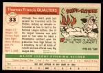 1955 Topps #33  Tom Qualters  Back Thumbnail