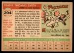 1955 Topps #204  Frank Smith  Back Thumbnail